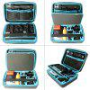 Fantaseal 13 inch Waterproof Dual Layer EVA Storage Box Case - BLUE AND BLACK