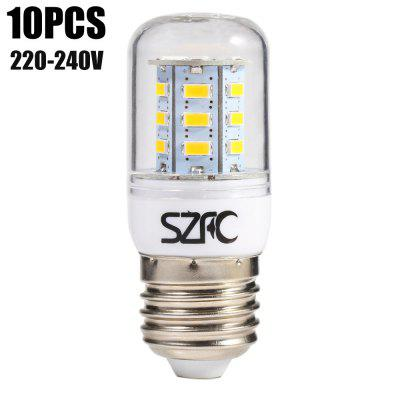 10pcs SZFC 3W E27 SMD 5730 280LM LED Corn Bulb