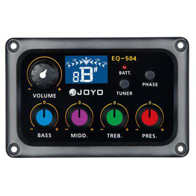 Buy BLACK JOYO EQ 504 4 Band Equalizer with Tuner Music Instrument Accessory for $24.15 in GearBest store