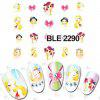 5PCS Pretty Girl Designs decalques unhas Sticker - COR MISTURA