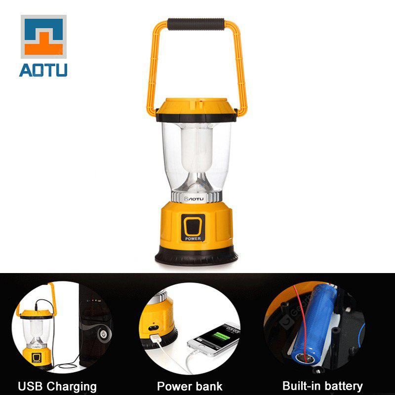 AOTU LSC-9028 Solar USB Rechargeable Camping Lantern YELLOW