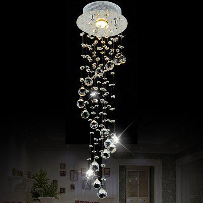 LightMyself Spiral Drop LED Crystal Chandelier