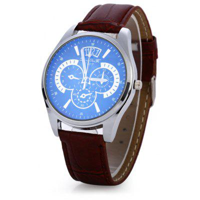 Male Quartz Watch Luminous Pointer Wristwatch