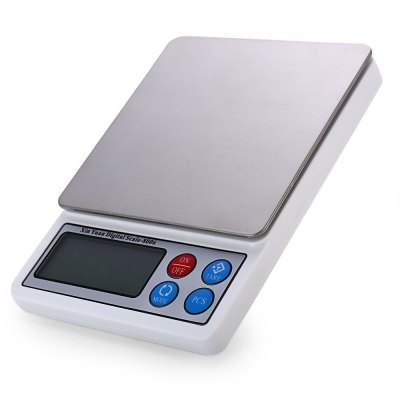 XY-8006 Portable Electronic Digital Kitchen ScaleDigital Scales<br>XY-8006 Portable Electronic Digital Kitchen Scale<br><br>Battery Type: AAA Battery ( not included )<br>Battery Voltage: 1.5V<br>Color: Silver<br>Material             : ABS<br>Maximum load : 2000g<br>Model: XY-8006<br>Operation Temperature: 10 - 30 degree<br>Package Contents: 1 x XY-8006 LCD Digital Balance Weight Jewelry Kitchen Scale, 1 x Transparent Bowl, 1 x Bilingual User Manual in English and Chinese<br>Package size (L x W x H): 15.20 x 12.40 x 2.90 cm / 5.98 x 4.88 x 1.14 inches<br>Package weight: 0.3400 kg<br>Precision : 0.1g<br>Product size (L x W x H): 14.10 x 10.00 x 1.70 cm / 5.55 x 3.94 x 0.67 inches<br>Product weight: 0.2840 kg<br>Type: Kitchen Scale, Jewelry Scale, Digital Scale