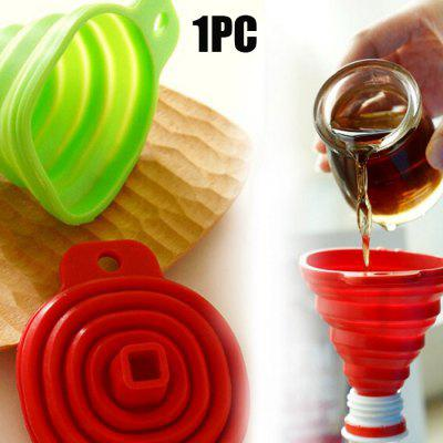Fashion Mini Silicone Telescopic Collapsible Funnel