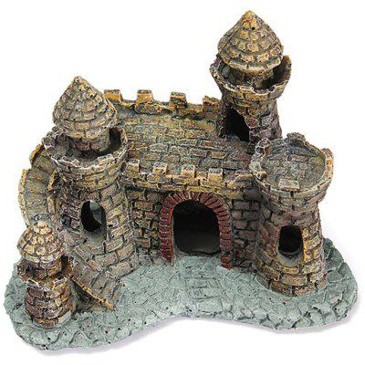 Aquarium Resin Simulation Small Castle Decorations