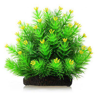 Simulation Christmas Tree Flowers Aquarium Ornament