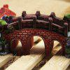 Aquarium Fish Tank Antique Resin Bridge Ornament - COLORFUL