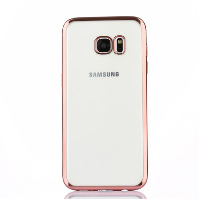 ASLING TPU Soft Protective Case for Samsung Galaxy S7 Edge Electroplated Frame