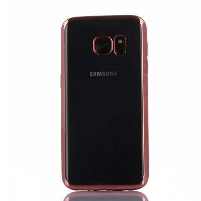 ASLING TPU Soft Protective Case for Samsung Galaxy S7 Electroplated Frame