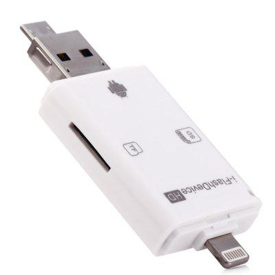 USB 8 Pin Interface Dual Storage Card Reader