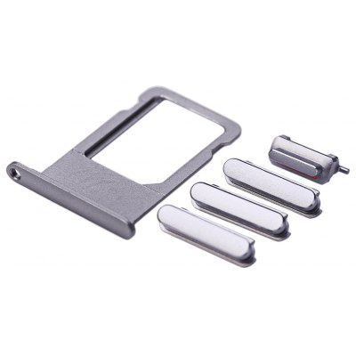 SIM Card Tray Slot with Side Buttons Mobile Phone Spare Parts for iPhone 6s Plus