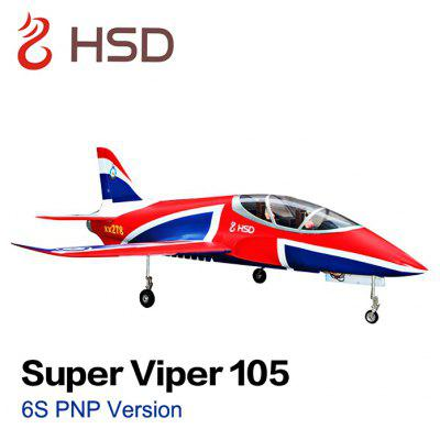 HSD Super Viper 105 6S 105mm Bypass EDF 1500mm Wingspan Glider Aeroplane PNP