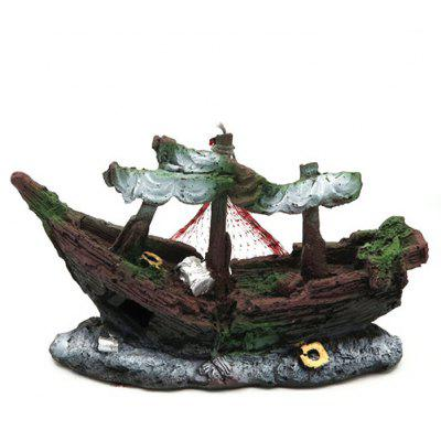 Aquarium Sunken Ship Ornament