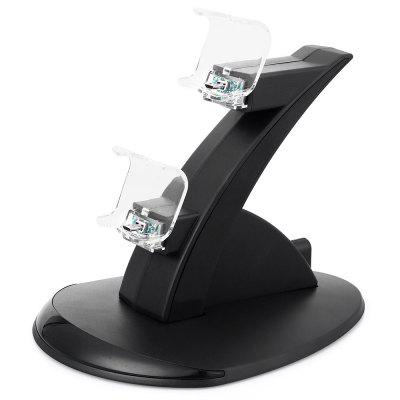 Plastic Charger Charging Stand Station with 2 USB Ports for PS4 Controller Large Size