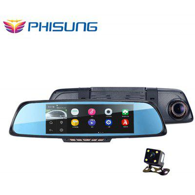 PHISUNG K05 Android 1080P FHD Car Rearview Mirror GPS