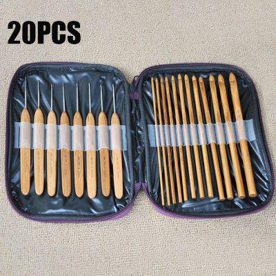 20PCS Bamboo Sewing Crochet Hooks