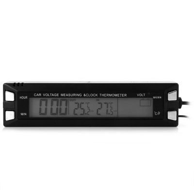 EC30 LCD Digital Car Thermometer Voltmeter Clock