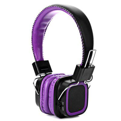 AT-BT814 Bluetooth Rotatable Stereo Purple Headphones