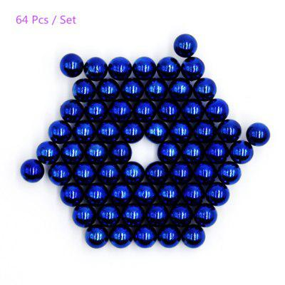5mm Round Magnetic Ball - 64Pcs / Set