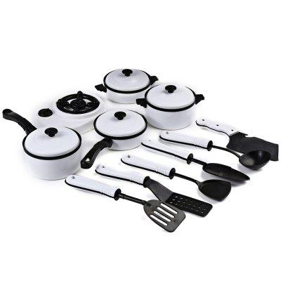 11pcs Simulation Kitchen Cookware ToyClassic Toys<br>11pcs Simulation Kitchen Cookware Toy<br><br>Age: Above 3 Years<br>Available Color: White<br>Material: Plastic<br>Package Contents: 1 x Set of Cooking Toy Cookware (11pcs)<br>Package size (L x W x H): 39.00 x 26.50 x 8.00 cm / 15.35 x 10.43 x 3.15 inches<br>Package weight: 0.209 kg<br>Product size (L x W x H): 38.00 x 25.50 x 7.00 cm / 14.96 x 10.04 x 2.76 inches<br>Type: Pretend Play