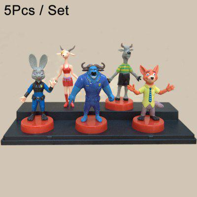 5Pcs Cute Model Anime Zoo Animal 4 - 8cm Figure Toy Home Decoration Great Gift