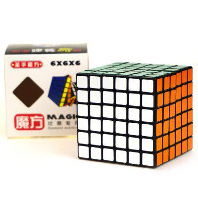 Shengshou Cube Competition 6 x 6 x 6 Black Base V-Cube 6 Portable Intelligent Toy