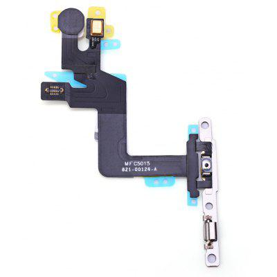 On / OFF Power Volume Button Mute Control Mic Flash Metal Plate Flex Cable Spare Part for iPhone 6s Plus