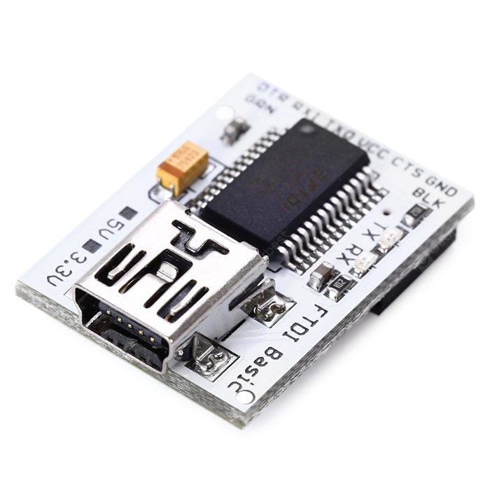FTDI Basic Mini USB to TTL Serial Port Plate