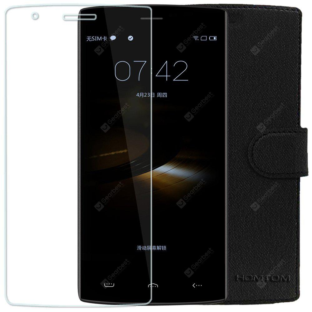 Original HOMTOM HT7 / HT7 Pro Tempered Glass Screen Protector and Protective Case Set