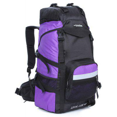 Buy PURPLE LOCAL LION 42L Water Resistant Trekking Backpack for $31.51 in GearBest store