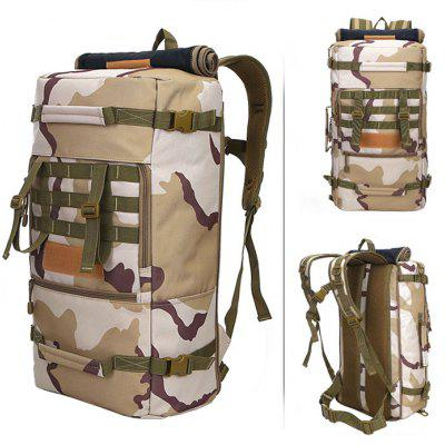 Buy THREE SAND CAMOUFLAGE LOCAL LION 50L Water Resistant Trekking Backpack for $33.07 in GearBest store