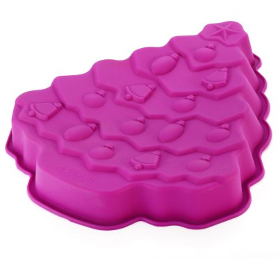 Cute Christmas Tree Shape Silicone Cake Molds Baking Tools for Chocolates Pastry