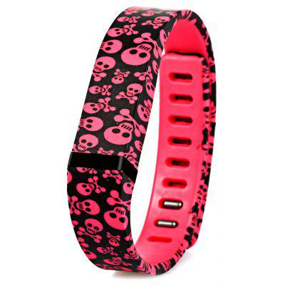 Cool Skull Pattern Stylish Rubber Strap for Fitbit Flex