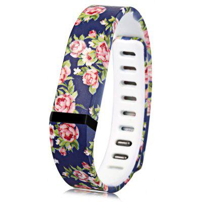 Flower Pattern Stylish Rubber Strap for Fitbit Flex