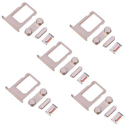 5 Sets SIM Card Tray Slot Repair Parts for iPhone 5S
