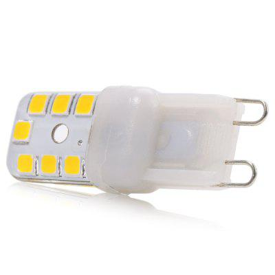 5pcs G9 3W SMD 2835 270Lm Dimmable LED Corn BulbLED Bi-pin Lights<br>5pcs G9 3W SMD 2835 270Lm Dimmable LED Corn Bulb<br><br>Available Light Color: Warm White,White<br>CCT/Wavelength: 2800-3200K,6000-6500K<br>Emitter Types: SMD 2835<br>Features: Low Power Consumption, Long Life Expectancy, Dimmable<br>Function: Home Lighting, Commercial Lighting, Studio and Exhibition Lighting<br>Holder: G9<br>Luminous Flux: 270LM<br>Output Power: 3W<br>Package Contents: 5 x G9 LED Corn Bulb<br>Package size (L x W x H): 5.20 x 3.00 x 4.50 cm / 2.05 x 1.18 x 1.77 inches<br>Package weight: 0.040 kg<br>Product size (L x W x H): 4.20 x 1.20 x 1.20 cm / 1.65 x 0.47 x 0.47 inches<br>Product weight: 0.005 kg<br>Sheathing Material: Silicone<br>Total Emitters: 14<br>Type: Candle Bulbs<br>Voltage (V): 220V