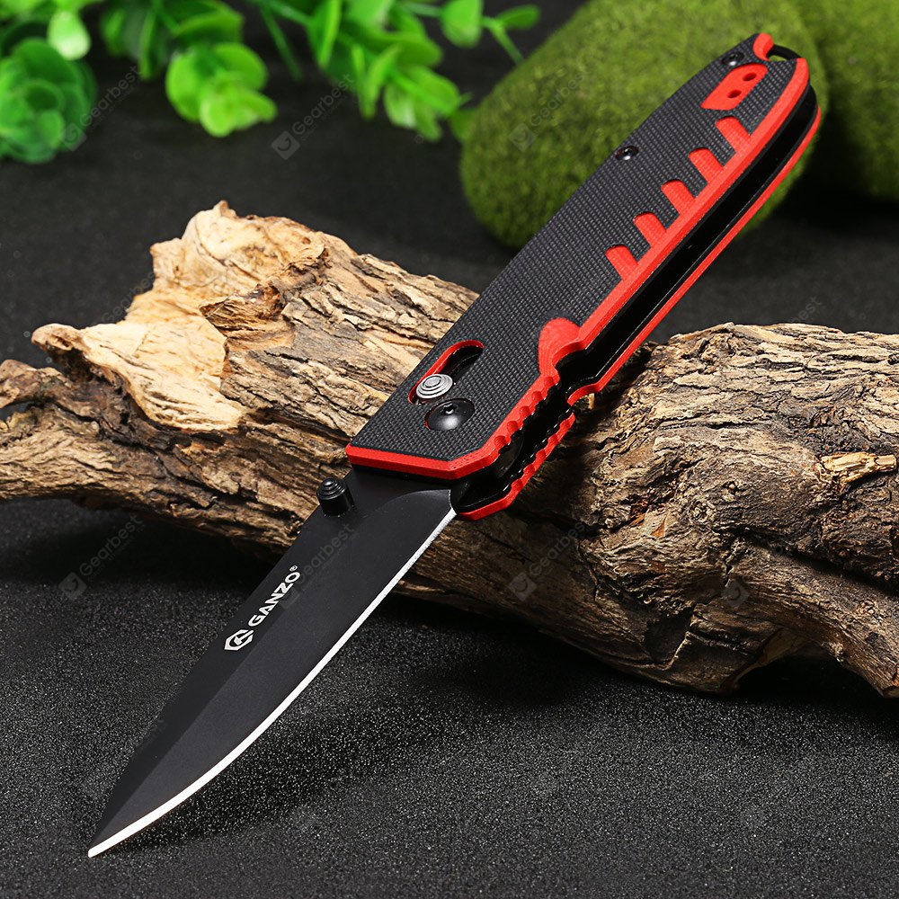 RED WITH BLACK, Outdoors & Sports, Knives / Tools, Pocket Knives and Folding Knives
