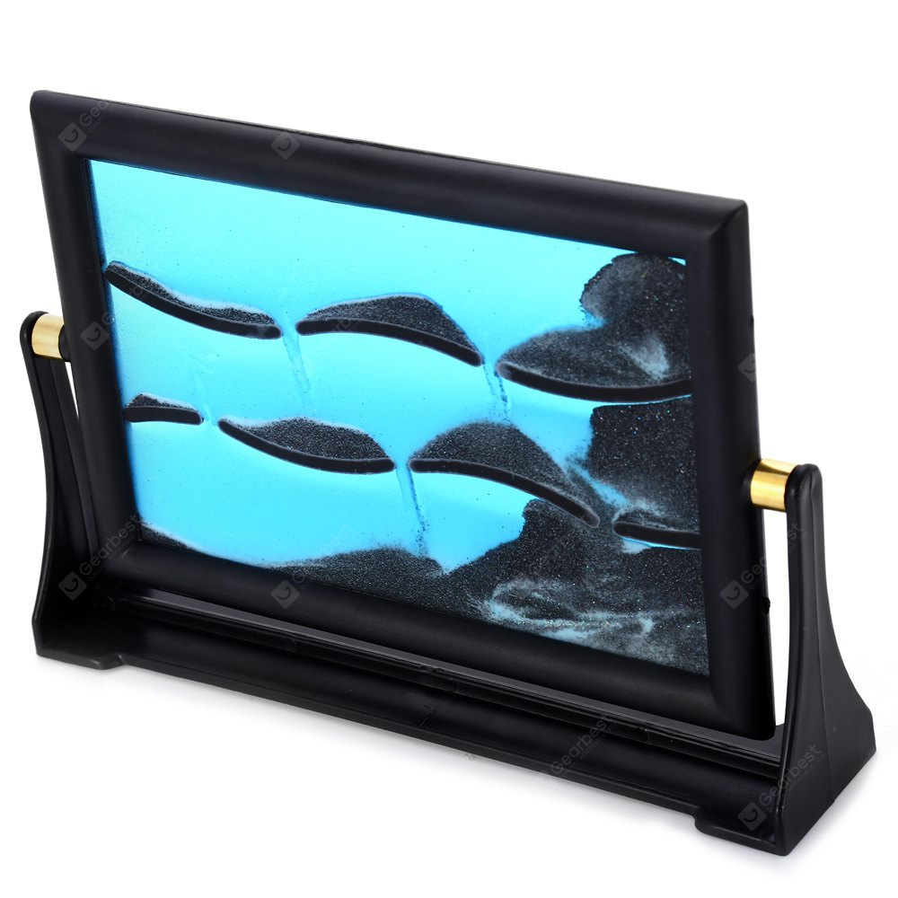 Rectangle Type 3D Moving Sandglass Sand Picture Frame Home Desk ...
