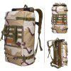 LOCAL LION 50L Water Resistant Trekking Backpack - THREE SAND CAMOUFLAGE