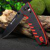 Ganzo G746-3-RB Portable Axis Lock Pocket Knife - RED WITH BLACK