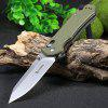Ganzo G7452-GR-WS Stainless Steel Knife - ARMY GREEN