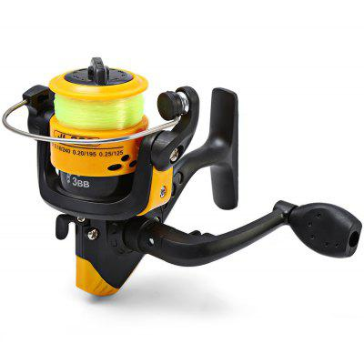 JL200 Injection Molding 3 Ball Bearings Spinning Fishing Reel 5.2/1