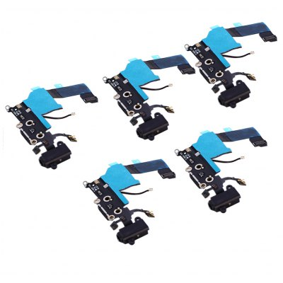 5Pcs / Set Charging Port Flex Cable Repair Parts for iPhone 5