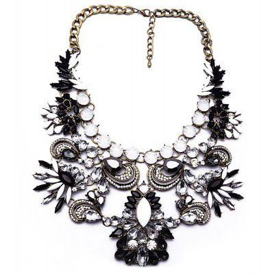 WQ001 Luxury Rhinestone Pendant Alloy Necklace for Ladies