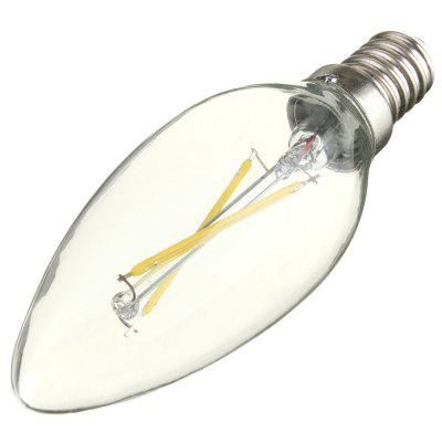 3 x BRELONG COB E14 200LM 2W LED Edison BulbEdison Bulbs<br>3 x BRELONG COB E14 200LM 2W LED Edison Bulb<br><br>Angle: 360 degree<br>Available Light Color: Warm White,White<br>Brand: BRELONG<br>CCT/Wavelength: 2800-3200K,6000-6500K<br>Emitter Types: COB<br>Features: Retro Edison Style, Low Power Consumption, Long Life Expectancy<br>Function: Studio and Exhibition Lighting, Home Lighting, Commercial Lighting<br>Holder: E14<br>Luminous Flux: 200LM<br>Output Power: 2W<br>Package Contents: 3 x BRELONG Candle Bulb<br>Package size (L x W x H): 9.00 x 3.50 x 10.00 cm / 3.54 x 1.38 x 3.94 inches<br>Package weight: 0.140 kg<br>Product size (L x W x H): 2.50 x 2.50 x 9.00 cm / 0.98 x 0.98 x 3.54 inches<br>Product weight: 0.030 kg<br>Sheathing Material: Glass<br>Total Emitters: 2<br>Type: Candle Bulbs<br>Voltage (V): AC 200-240V