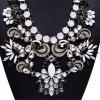 WQ001 Luxury Rhinestone Pendant Alloy Necklace for Ladies - BLACK