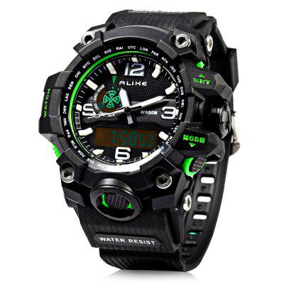 Alike AK15116 LED Dual Movt Multi-function Male Sport Watch