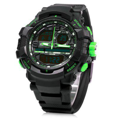 Alike AK15118 LED Dual Movt Multi-function Male Sport Watch