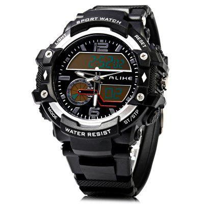 Alike AK15117 LED Dual Movt Multi-function Male Sport Watch